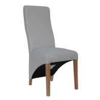 See more information about the Baxter Fabric Wave Back Dining Chair Natural