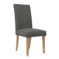 See more information about the Madrid Fabric Straight Back Dining Chair Dark Grey