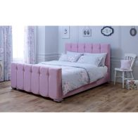 See more information about the Lansfield Canterbury Velvet Pink 3ft Single Bed Frame