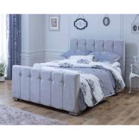 See more information about the Lansfield Canterbury Velvet Silver 3ft Single Bed Frame