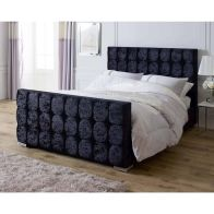 See more information about the Lansfield Gatsby Velvet Black 3ft Single Bed Frame
