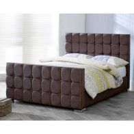 See more information about the Lansfield Gatsby Velvet Brown 3ft Single Bed Frame