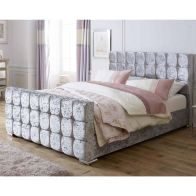 See more information about the Lansfield Gatsby Velvet Silver 3ft Single Bed Frame