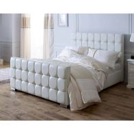 See more information about the Lansfield Gatsby Velvet White 3ft Single Bed Frame
