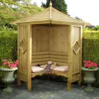 See more information about the Shire Classic Corner Garden Arbour 4' x 4'