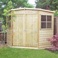See more information about the Shire Pressure Treated Shiplap Corner Garden Shed (7' x 7')