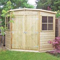 See more information about the Shire Pressure Treated Shiplap Corner Garden Shed (8' x 8')
