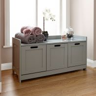 See more information about the Colonial MDF Grey 3 Drawer Storage Bench