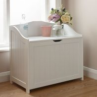 See more information about the Colonial MDF White Bathroom Storage Hamper