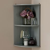 See more information about the Colonial Corner Shelving Unit Grey 2 Shelf