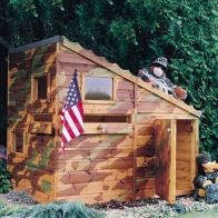 See more information about the Shire Command Post Garden Playhouse (6' x 4')