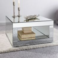 See more information about the Venetian Coffee Table Mirrored 1 Shelf