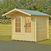 See more information about the Shire Crinan Garden Log Cabin 19mm (7' x 7')