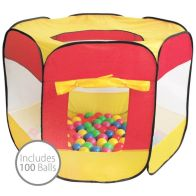 See more information about the Multi-Coloured Pop Up Ball Pit Play Tent 100 Balls