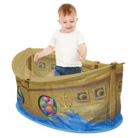 See more information about the Pirate Boat Ball Pit Play Tent 50 Multi Coloured Balls