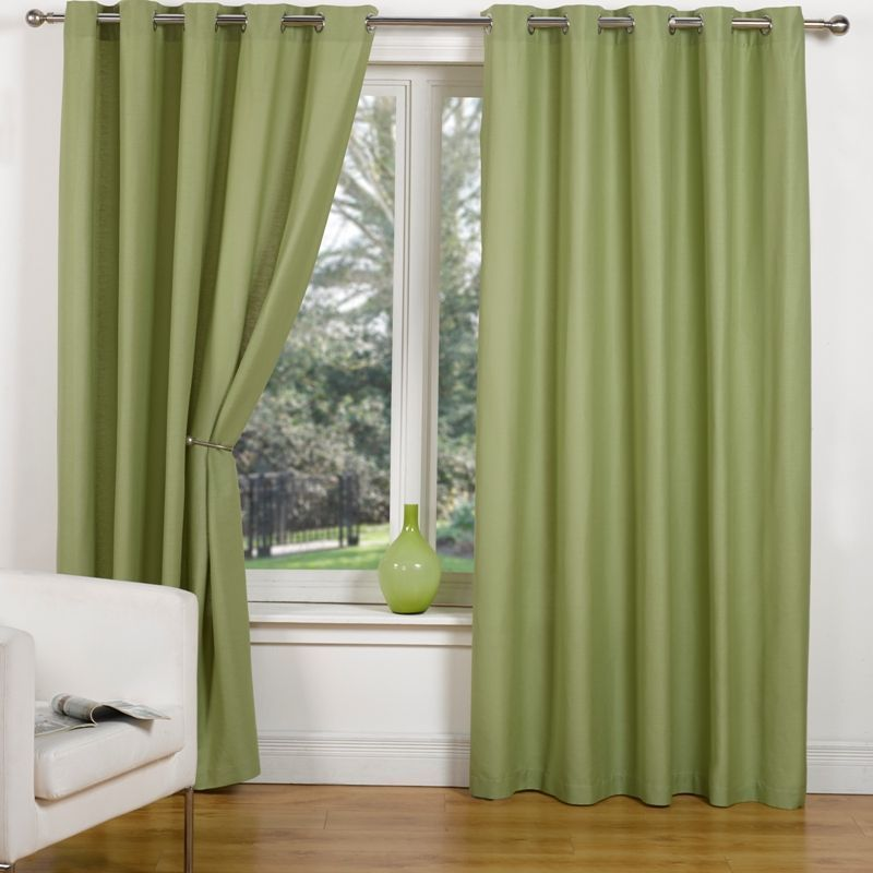 Buy Canvas Eyelet Curtains 90 Width X 90 Drop Leaf Online At Cherry Lane