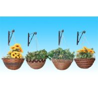 "See more information about the African Rope Basket Planter (14"")"