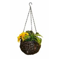 See more information about the Water Hyacinth Ball Hanging Basket Planter 9Inch