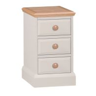 See more information about the Country Cottage Bedside Cream & Oak 3 Drawers