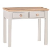 See more information about the Country Cottage Dressing Table Cream & Oak 2 Drawer