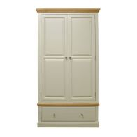 See more information about the Country Cottage Wardrobe Oak 2 Door 1 Drawer