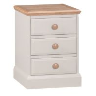 See more information about the Country Cottage Large Bedside Cream & Oak 3 Drawers