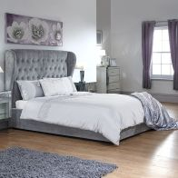 See more information about the Dakota Double Ottoman Bed Grey