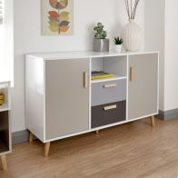 See more information about the Delta Sideboard White & Grey 2 Door 1 Shelf 2 Drawer