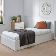 See more information about the Winston End Lift Single Ottoman Bed White Faux Leather