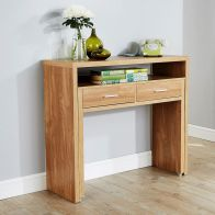 See more information about the Regis Oak Finish Extending Console Desk