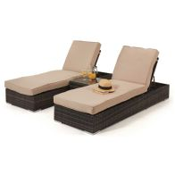 See more information about the Orlando Garden Sunlounger Brown