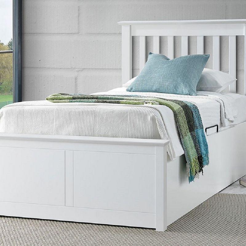 Marvelous Buy Francis Single Ottoman Bed White Online At Cherry Lane Inzonedesignstudio Interior Chair Design Inzonedesignstudiocom