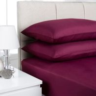 See more information about the Fusion 2 Pack Pillow Case Aubergine