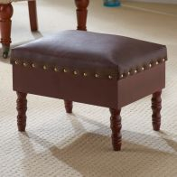 See more information about the Faux Leather Foot Rest Stool With Storage