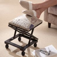 See more information about the Adjustable Height Foot Rest Stool Mahogany