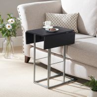 See more information about the Extendable Side Table Black/Silver