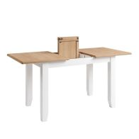 See more information about the Ava Oak Rectangular Extending 4/6 Seat Extending Dining Table White