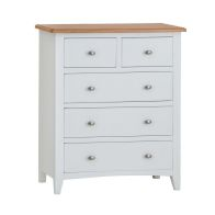 See more information about the Ava Oak 5 Drawer Chest White