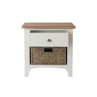See more information about the Ava Oak & Wicker 2 Drawer Chest White