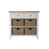 See more information about the Ava Oak & Wicker 6 Drawer Chest White