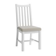 See more information about the Ava Oak Open Slat Dining Chair White