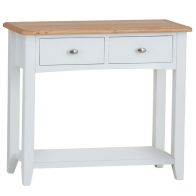 See more information about the Ava Oak 2 Drawer Console Table White