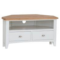 See more information about the Ava Oak 2 Drawer Corner TV Unit White