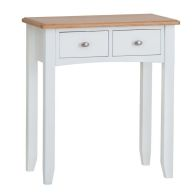 See more information about the Ava Oak 2 Drawer Dressing Table White