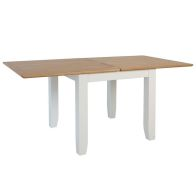 See more information about the Ava Oak Flip Top Extending 4/6 Seat Extending Dining Table White