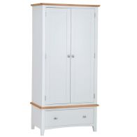 See more information about the Ava Oak 2 Door 1 Drawer Double Wardrobe White