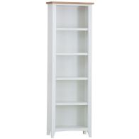 See more information about the Ava Oak Large 5 Shelf Bookcase White