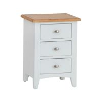 See more information about the Ava Oak 3 Drawer Bedside Cabinet White