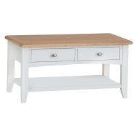 See more information about the Ava Oak 2 Drawer Coffee Table White