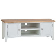 See more information about the Ava Oak 2 Door 2 Shelf Large TV Unit White
